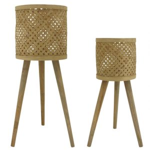 Bamboo Weave Planters